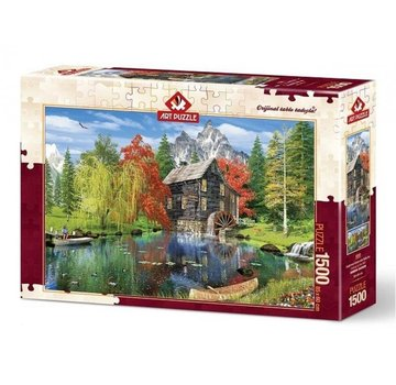 Art Puzzle Fishing by the Mill 1500 Puzzle Pieces