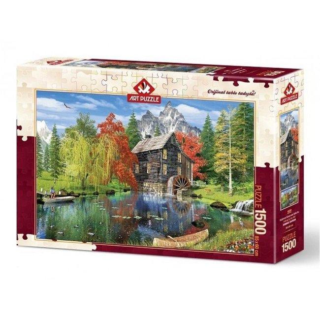 Art Puzzle Angeln durch die Mühle 1500 Puzzleteile