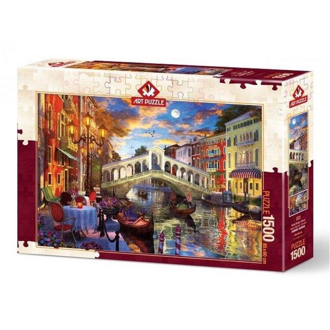 Art Puzzle Rialto-Brücke in Venedig 1500 Puzzleteile