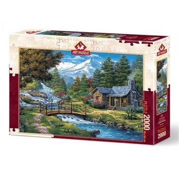 Art Puzzle Deux Cascades en 2000 Puzzle Pieces