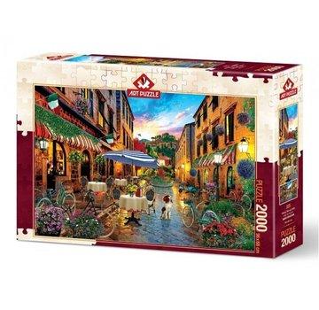 Art Puzzle Biking Through Italy Puzzel 2000 Stukjes