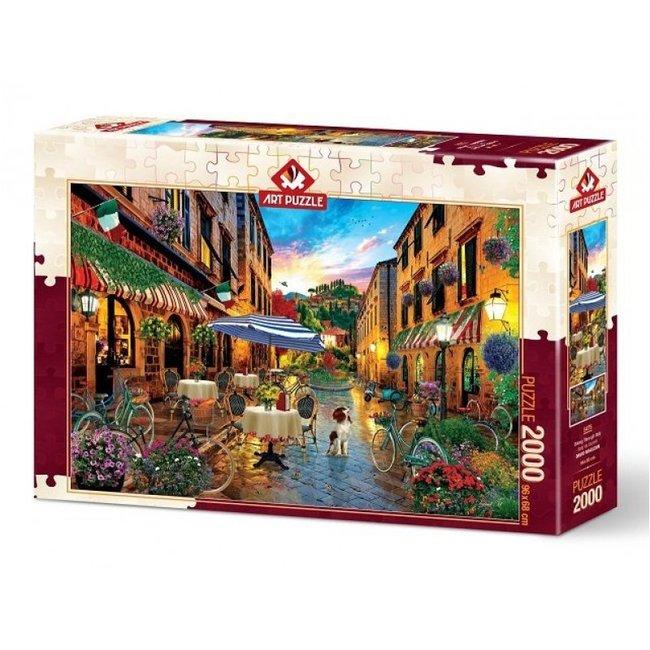 Art Puzzle Biking Through Italy 2000 Puzzle Pieces