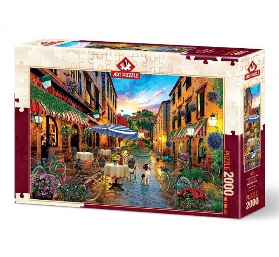 Radfahren durch Italien 2000 Puzzle Pieces