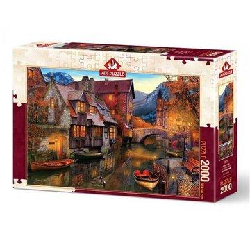 Art Puzzle Canal Maisons 2000 Pièces Puzzle