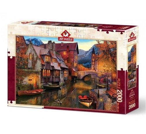 Art Puzzle Canal Homes Puzzel 2000 Stukjes