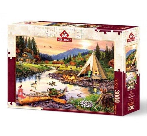 Art Puzzle Camping Friends Puzzel 3000 Stukjes