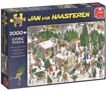 Jumbo Jan van Haasteren – De Kerstbomenmarkt Puzzel 2000 Stukjes