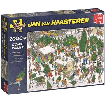 Jan van Haasteren Jan van Haasteren - The Christmas Market 2000 Puzzle Pieces