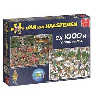 Jan van Haasteren Jan van Haasteren - cadeaux de Noël Puzzle Pieces 2x 1000