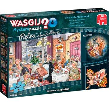 Jumbo Wasgij Mystery 4 Divertissements en direct Puzzle 1000 pièces