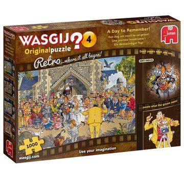 Jumbo Wasgij 4 Rétro Un jour pour se souvenir de 1000 pièces de puzzle