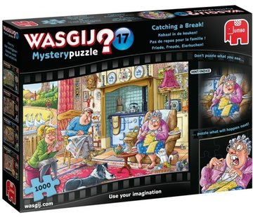 Jumbo Wasgij Mystery 17 Kabaal in the Kitchen Puzzle pieces 1000