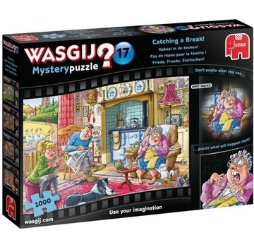 Jumbo Wasgij Geheimnis 17 Kabaal in der Küche Puzzle-Stücke 1000