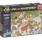 Jan van Haasteren – Wild Water Raften Puzzel 1500 Stukjes