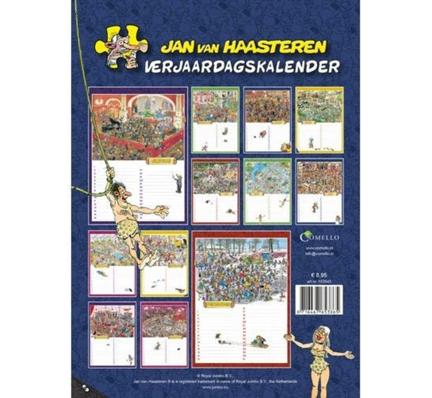Jan van Haasteren Birthday Calendar - Copy