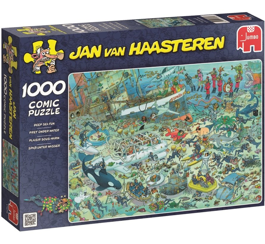 Jan van Haasteren – Pret onder Water Puzzel 1000 Stukjes