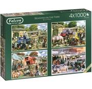 Falcon Seasons on the Farm Puzzle 4x 1000 pieces