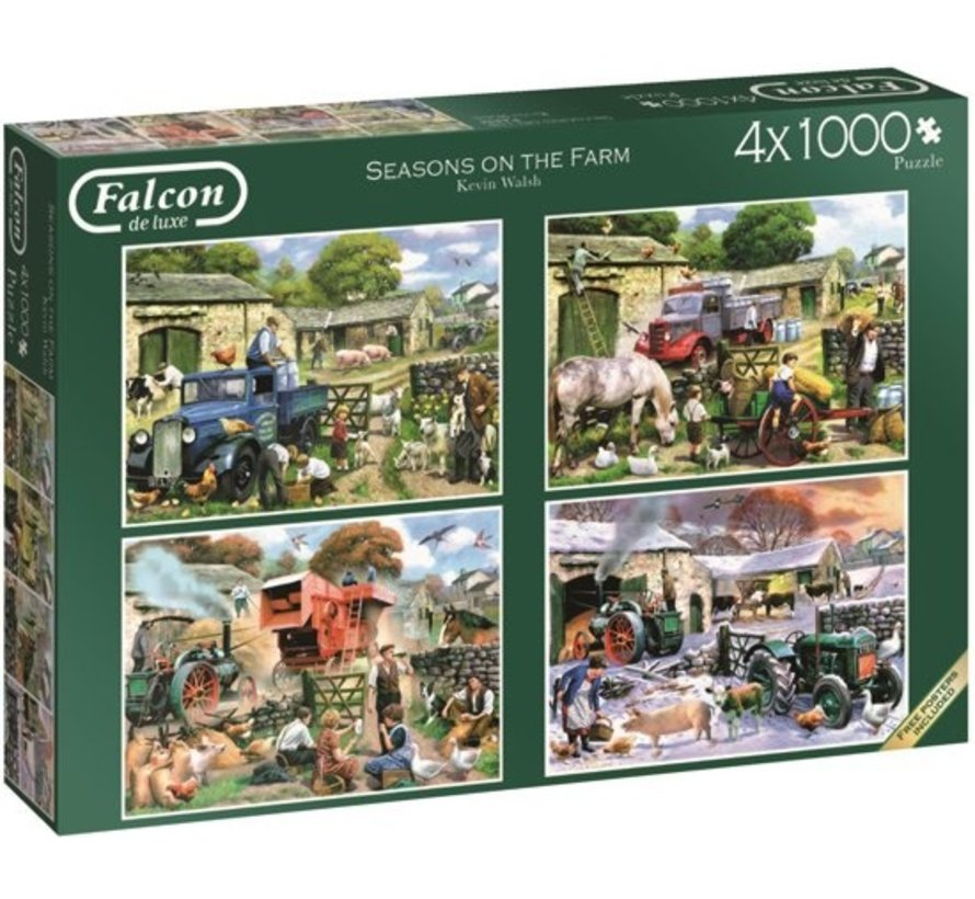 Seasons on the Farm Puzzle 4x 1000 pieces