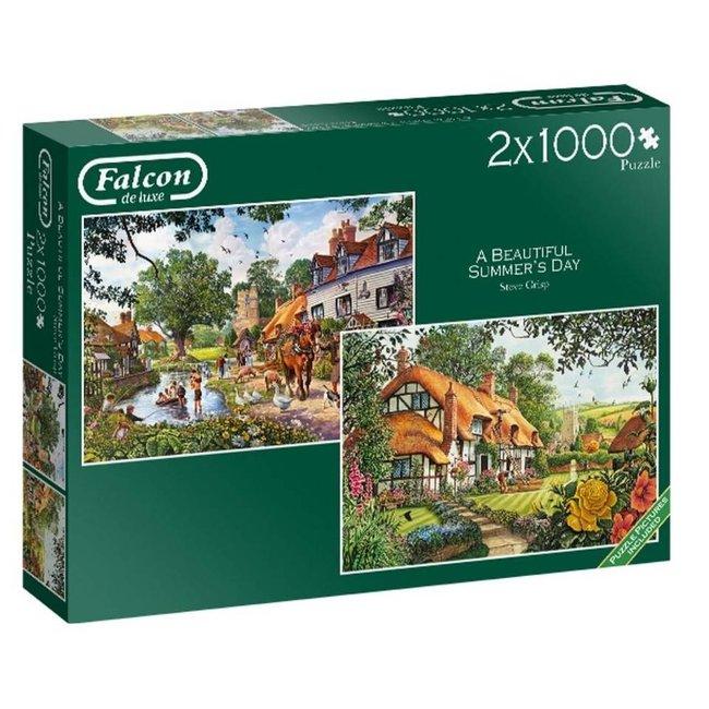 Falcon Ein schönes Sommertag Puzzle Stück 2x 1000
