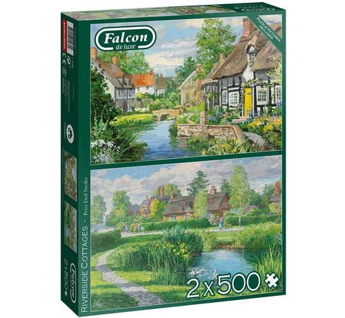 Falcon Riverside Cottages Puzzle 2x 500 pieces