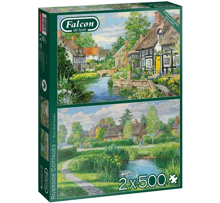 Riverside Cottages Puzzle 2x 500 pieces