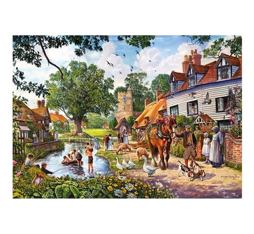 Le Woodland Cottage 2x 1000 Puzzle Pieces