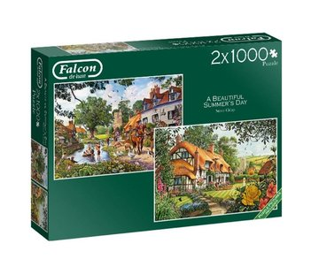 Falcon The Woodland Cottage Puzzle 2x 1000 Piece Jigsaw Puzzle