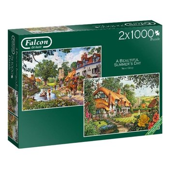 Falcon The Woodland Cottage Puzzel 2x 1000 Stukjes