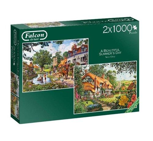 Falcon The Woodland Cottage Puzzel 2x 1000 Stukjes