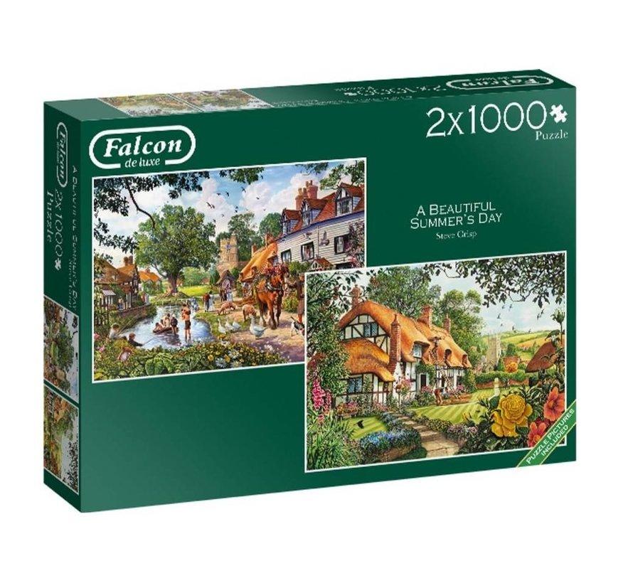The Woodland Cottage Puzzel 2x 1000 Stukjes