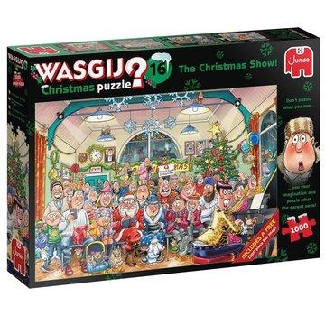 Jumbo Wasgij 16 Christmas - Le spectacle de Noël pièces Puzzle 2 x 1000