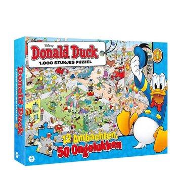 JustGames Donald Duck  12 Ambachten Puzzel 1000 Stukjes