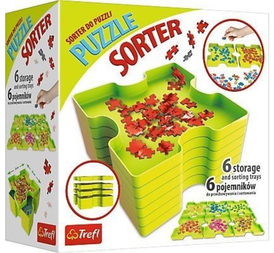Puzzel Sorteerbox; 6 boxen