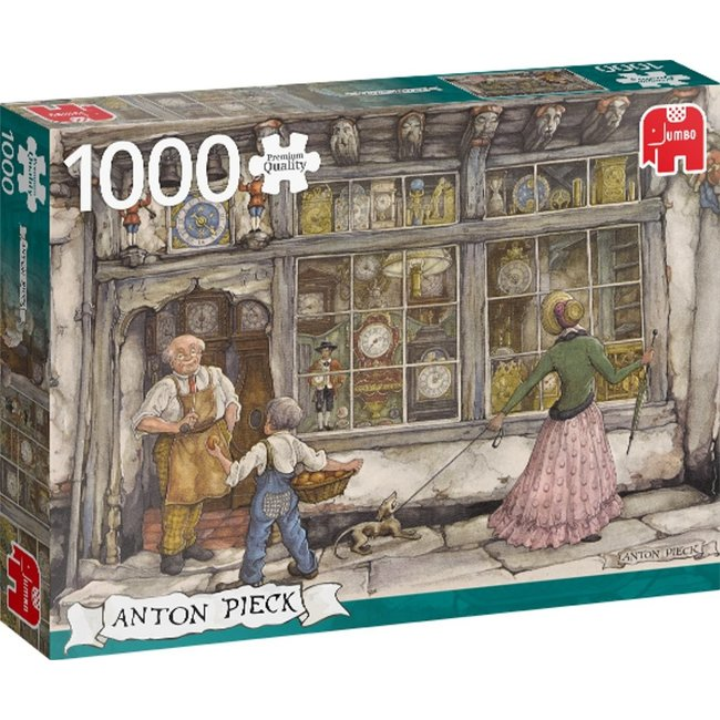 Jumbo Puzzel Anton Pieck Klokkenwinkel 1000 Stukjes