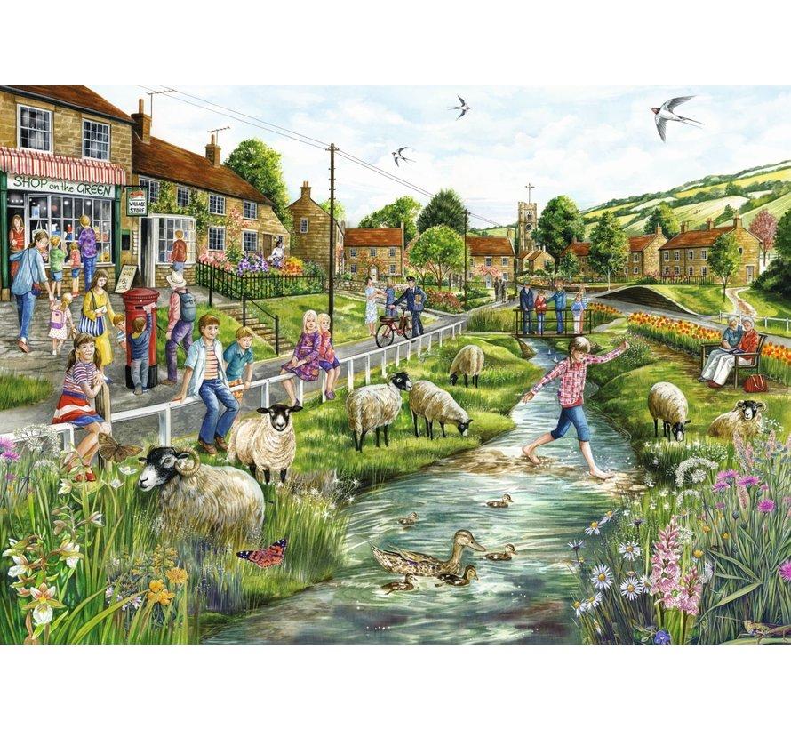 Village Life Puzzle 2x 1000 Piece Jigsaw Puzzle