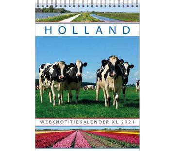 Comello calendrier Hollande notes semaine XL 2021
