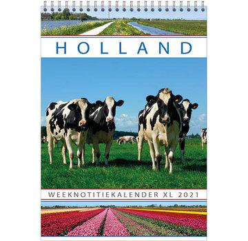 Comello Holland WEEKnotitie kalender XL 2021
