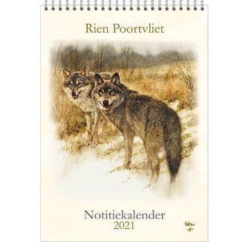 Comello Rien Poortvliet Monats Notes-Kalender 2021 Wolves