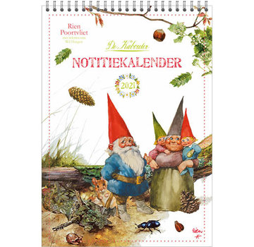 Comello Rien Poortvliet Monats Notes-Kalender 2021 Leprechaun