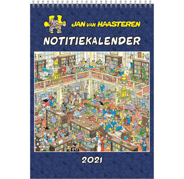 Comello Jan van Haasteren Monthly Notes Calendar 2021 A4