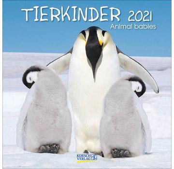 Korsch Verlag Baby Animals Calendar 2021