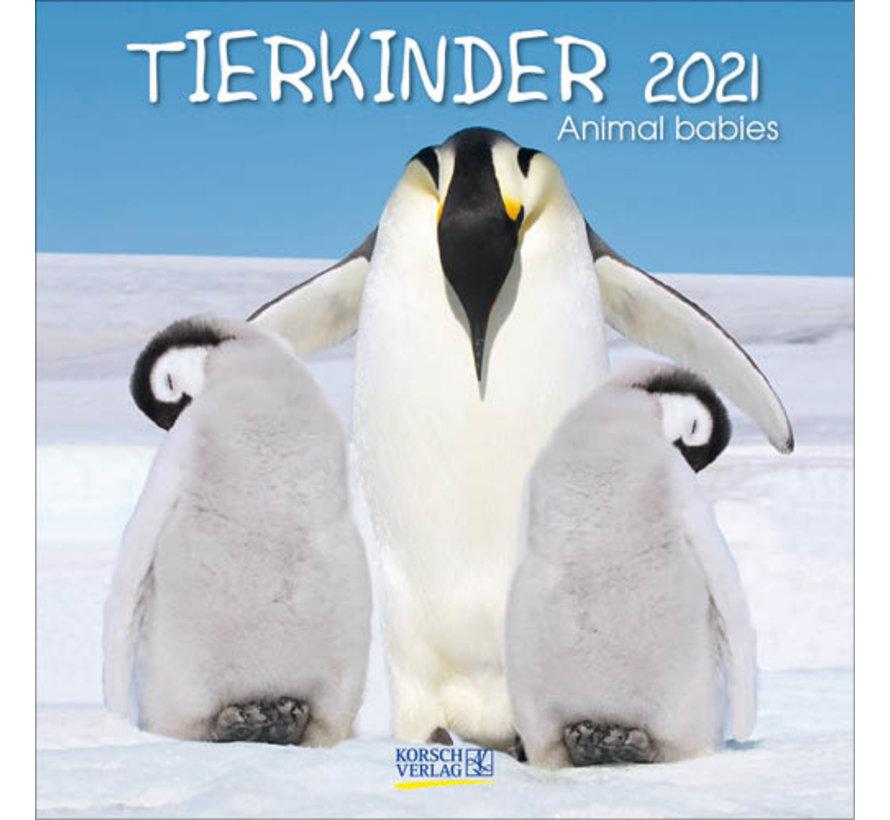 Animaux Bébés Calendrier 2021