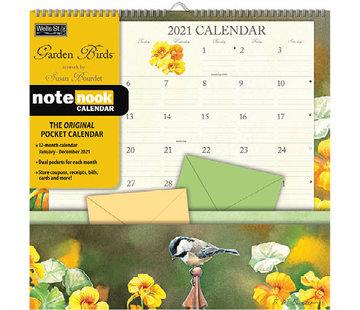 LANG Garden Birds Pocket Books Nook Calendar 2021