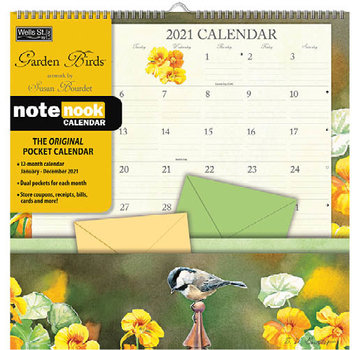 LANG Garden Birds Pocket Note Nook Kalender 2021