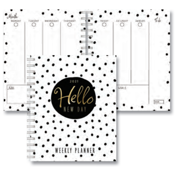Hallmark Black, White and Gold Personal Planner 2021