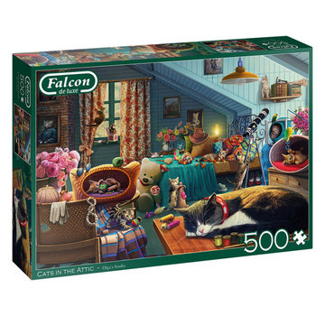 Falcon Cats in the Attic Puzzel 500 Stukjes