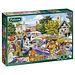 Falcon Dorfkirche Auto-Boot-Verkauf 500 Puzzle Pieces