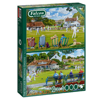 Falcon The Sporting Village Greens 2x 1000 Puzzle Pieces