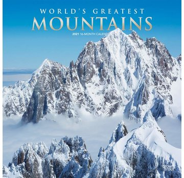 Browntrout Worlds Greatest Mountains Calendar 2021