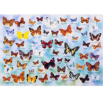 The House of Puzzles Butterflies Puzzel 1000 Stukjes